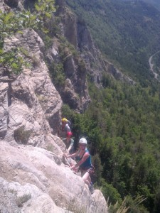Climbing Via Ferata, The Alps