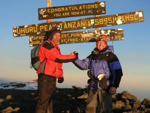 "Steve ""The Essex Pirate"" Lodge and Rob Jones Kilimanjaro summit - 5895m"