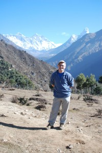 "Peter ""Radar"" Watson in Napal With Mount Everest In Background"