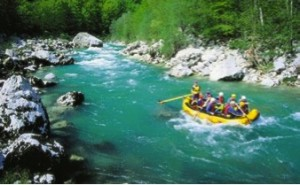 White water rafting, Soca River