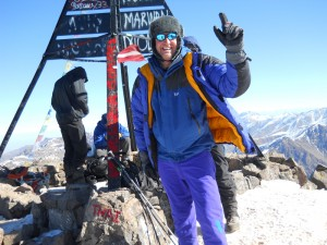 """Paul """"the Chimney Sweep"""" on the Summit of Toubkal"""